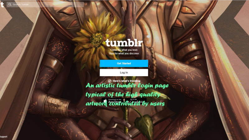 A typical Tumblr login familiar to all users.