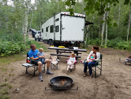 """A travel trailer like this can become a bargain in """"trailers for sale colorado"""" in the off-season."""