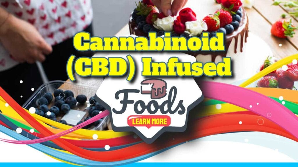 "Featured image with text: ""CBD Infused Foods - The debate""."