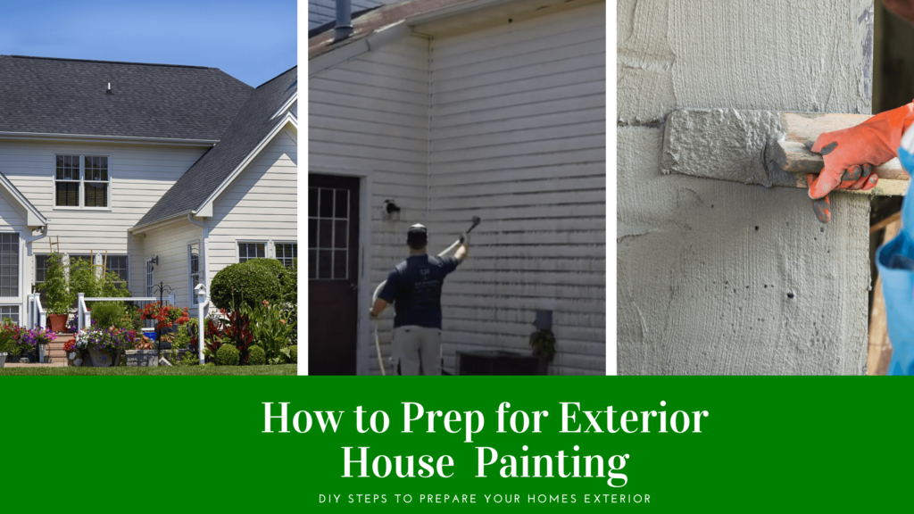 Exterior House Painting Prep